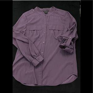 Victoria's Secret MODA INTERNATIONAL Purple Shirt